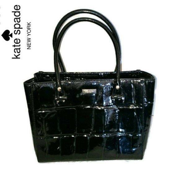Kate Spade Quinn Wellesley Black leather handbag